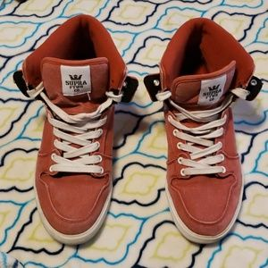 SUPRA Footwear Co. Red w/ white lettering shoes